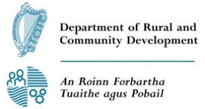 Department of Rural and Community Development / An Roinn Forbartha Tuaithe agus Pobail, Sponsor Emblem and Tag Line (DRCDLogo-300x160)